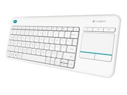 Logitech Wireless Touch tastatur K400 Plus - Hvid