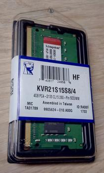 KIngston 4 GB SO-dimm DDR4 2133 MHz KVR21S15S8/4