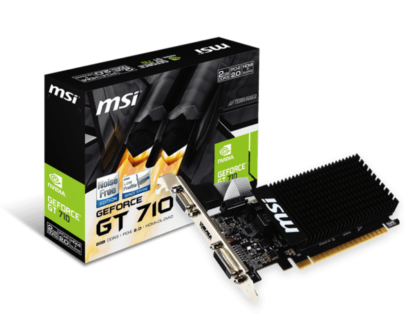 GT710 2 GB   MSI GeForce Low Profile Silent