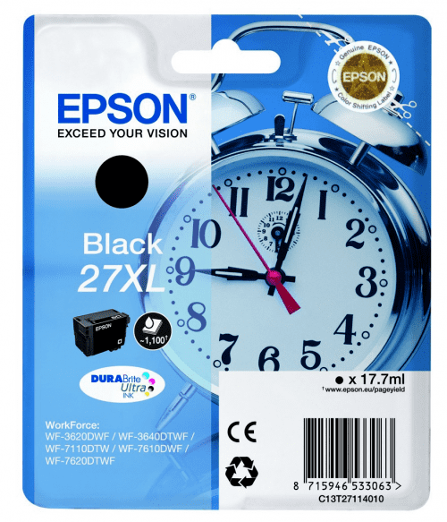 Epson 27XL sort blækpatron
