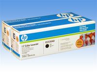 HP Black Laser Toner Twin Pack CC530AD / 304A CP2025